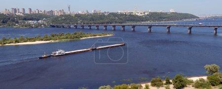 Панорама Киева и реки Днепр