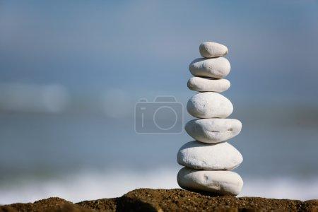 Pile of peebles stone