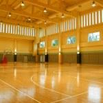 A gymnasium empty light high space