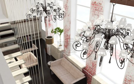 Photo for 3d render interior - Royalty Free Image