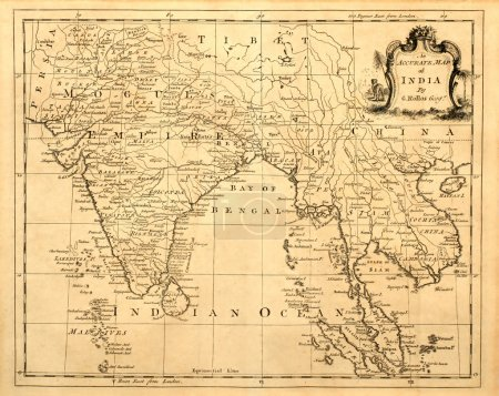 Old Map of India and Southeast Asia