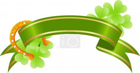 Good luck, st. Patrick's day banner