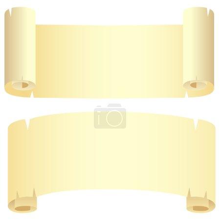 Two yellow scrolls