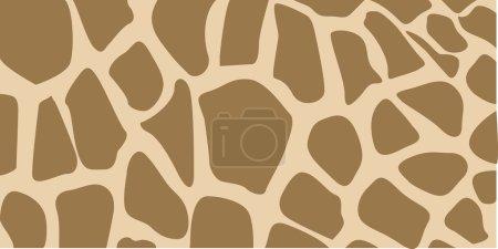 Illustration for Giraffe wild brown marking. Vector illustration. - Royalty Free Image