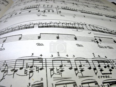 Close-up musical notes