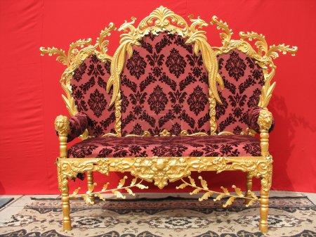 Ornated golden sofa furniture