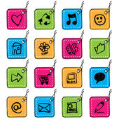 Square tag icons