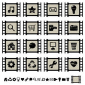 Film cell icons set 1