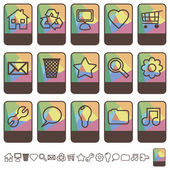Collection of colorful tab icons with copy space set 1