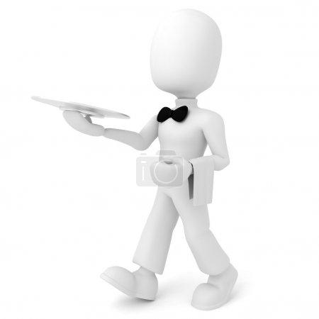 3d man waiter