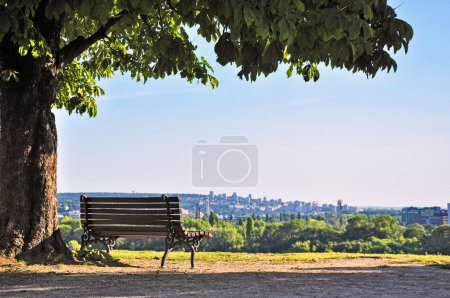 Belgrade city river landscape