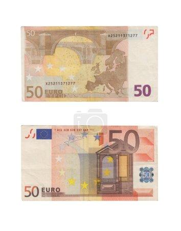 50 Euro Banknotes Pile