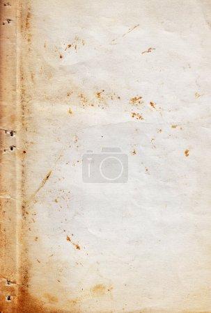 Photo pour Vieille texture de papier grunge haute résolution avec des marques d'âge . - image libre de droit