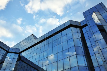 Photo for Corporate office building with large, glass windows - Royalty Free Image