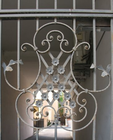 Photo for Patterned metal gates - Royalty Free Image