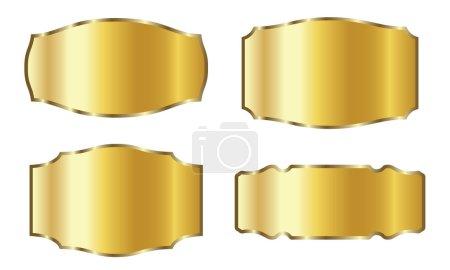 Illustration for Vector gold label set for promotion - Royalty Free Image