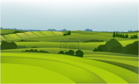 Illustration for Vector green landscape. - Royalty Free Image