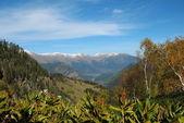 Autumn in mountains of caucasus