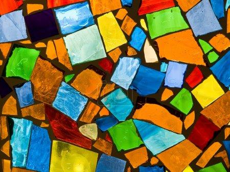 Photo pour Photo de fond abstraite de mosaïque de verre coloré - image libre de droit