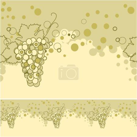 Illustration pour Illustration vectorielle - fond abstrait avec raisins - image libre de droit
