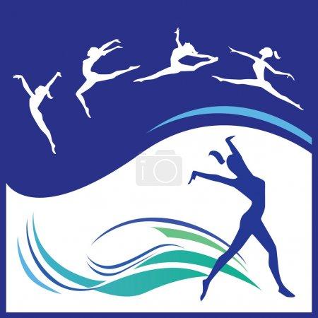 Illustration pour Illustration vectorielle de la gymnastique féminine - image libre de droit