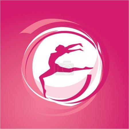 Illustration pour Illustration vectorielle - gymnastique féminine - image libre de droit