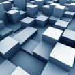 Abstract urban background of 3d blocks...
