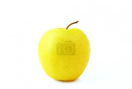 Photo for Yellow apple isolated on a white background - Royalty Free Image