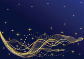 Abstract night background Waves Vector illustration