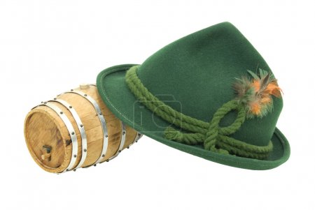 Felt Alpine hat and Oak barrel