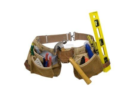 Photo pour Ceinture à outils en cuir pour le transport d'objets idéalement pendant le travail - chemin d'accès inclus - image libre de droit