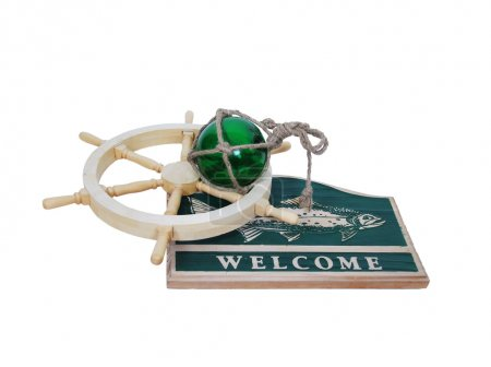 Welcome nautical sign