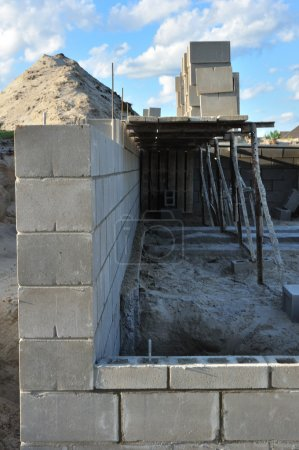 New building foundation wall