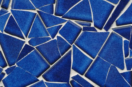 Photo for Blue Tile Mosaic, Close-up - Royalty Free Image