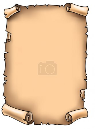 Illustration for Ancient blank scroll with torn edges, vector illustration - Royalty Free Image