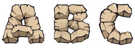 Stone alphabet: ABC