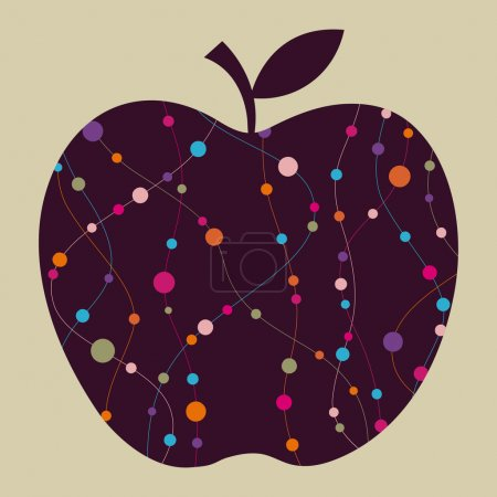 Illustration pour Conception vectorielle de pomme - image libre de droit