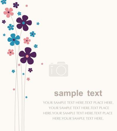 Illustration pour Vecteur fleur papier peint design - image libre de droit