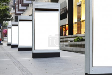 Blank signboards