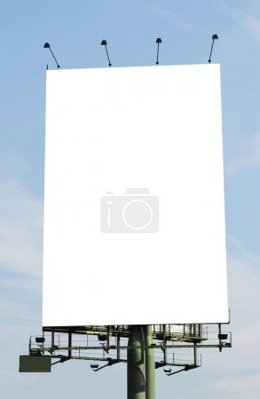 Photo for A vertical blank billboard. Clipping paths included. - Royalty Free Image