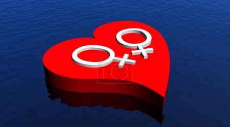 Lesbian love on the sea