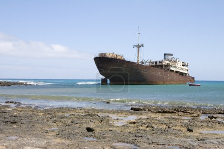 Wrecked ship in Lanzarote