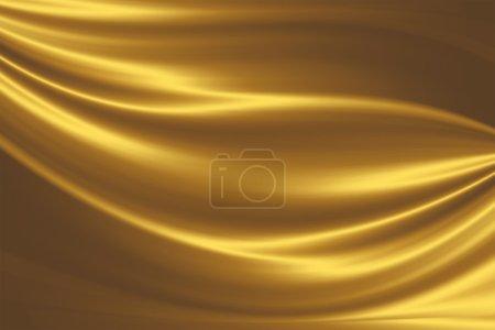 Photo pour Soie or - abstrait élégant avec les lignes lisses - image libre de droit