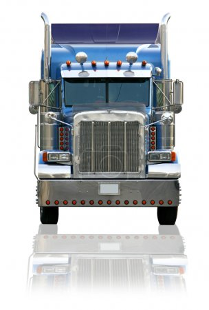 Semi Truck Isolated on a White Backgroun