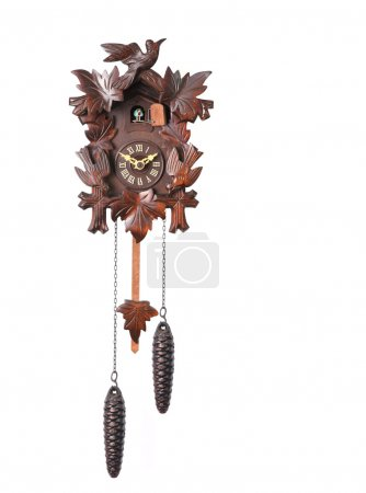 Cuckoo Clock Isolated on a White Backgro