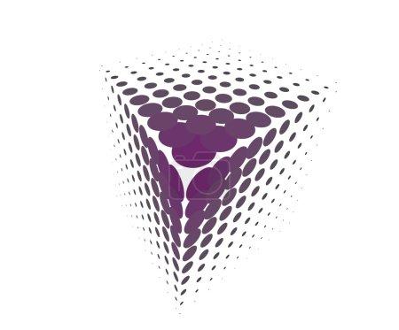 Illustration pour Demi-ton 3d - image libre de droit