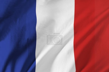 French Flag Waving In The Wind...
