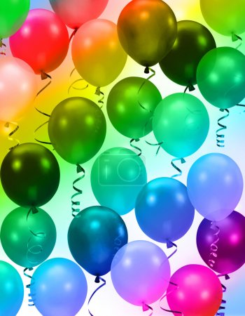 Photo for Colorful party balloons background - Royalty Free Image