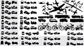 Vector collection of transportation silh