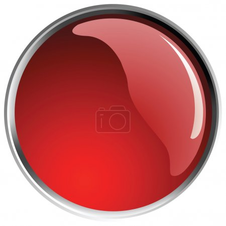 Illustration for Glossy red button balls. - Royalty Free Image